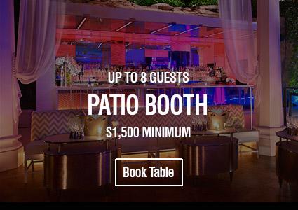 Intrigue Las Vegas Patio Booth Table